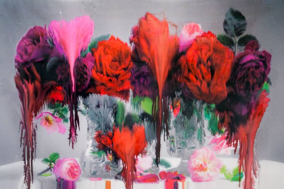 "Instagram & Florals: Photos From Nick Knight's New London Exhibit ""Frieze Art Fair"""