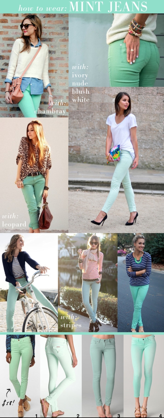 Mint Jeans as seen on SmallShopStudio.com
