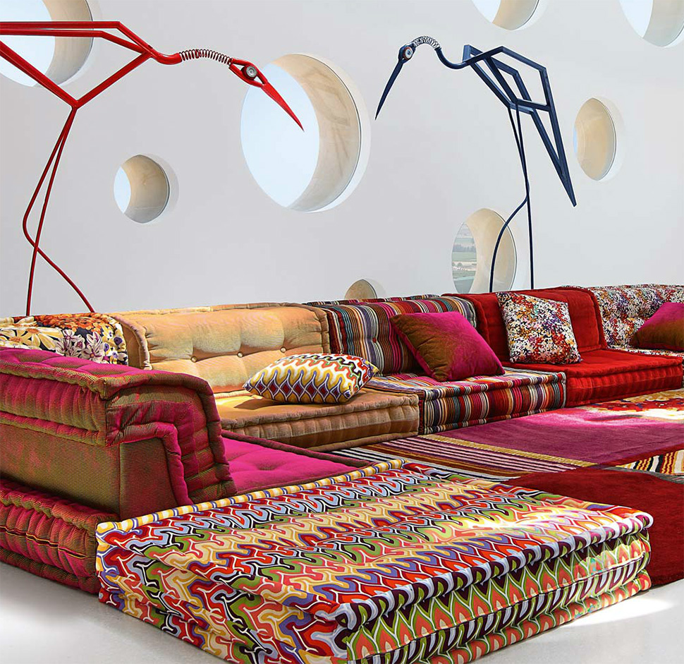 Roche Bobois Paris 7 dream couch: missoni bohemian sofa | the cherie bomb