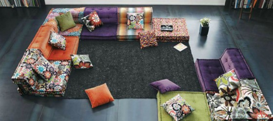 6. Roche Bobois balck floors sectional-sofas