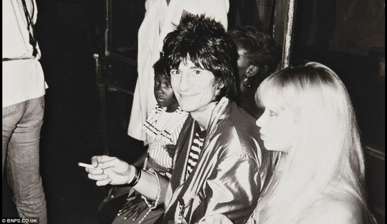{The Rolling Stones' Ronnie Wood}