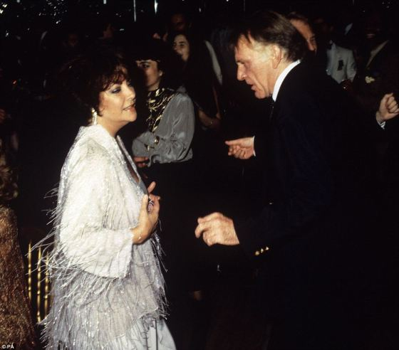 Elizabeth and Richard Burton dancing at her 50th birthday party at London's nightclub Legends in 1982