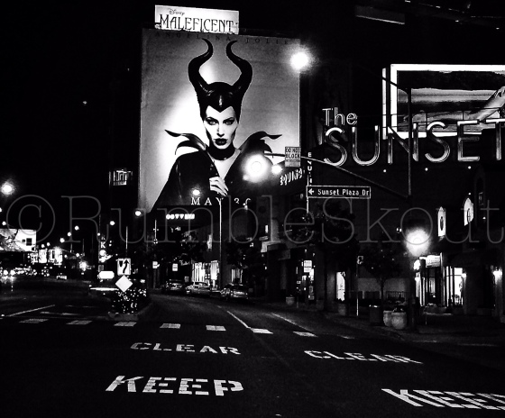 The Cherie Bomb Photo of the Day: Keep Clear of Maleficent on Sunset Blvd.