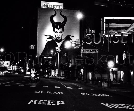 Angelina Jolie Maleficent on Sunset Blvd