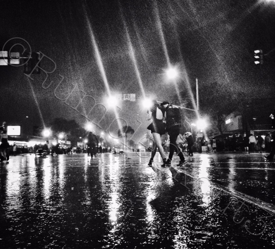 "The Cherie Bomb Photo of the Day: ""A Walk in L.A.'s First Rain"""