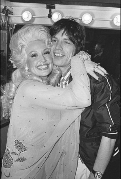 With Mick Jagger, 1977.