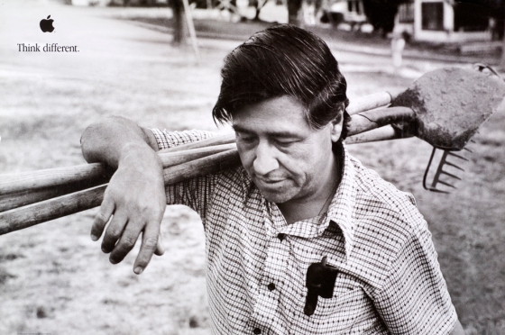 "Cesar Chavez, United Farm Workers & human right activist, from the Apple ""Think Different"" Campaign, 1997"